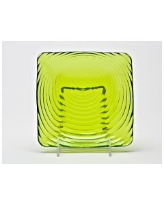 """Zeus Lime Swirl Bread and Butter Plate 6"""""""