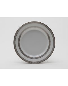 """White with Platinum Bread and Butter Plate 7"""""""