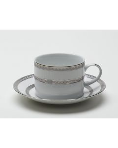 White with Platinum Cup 8 oz
