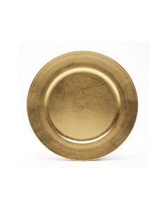"""Gold Resin Service or Charger Plate 13"""""""