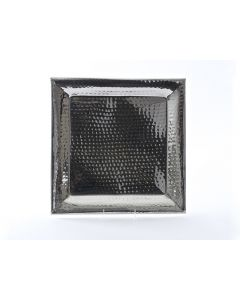 """16"""" Square Stainless Steel Hammered Tray"""