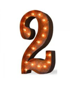 """Marquee 24"""" Number - """"2"""""""