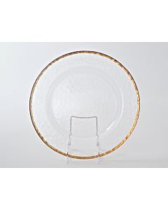 """Aria Rose Gold Rim Service or Charger Plate 13"""""""