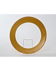 """Matte Ringed Gold Service or Charger Plate 13"""""""