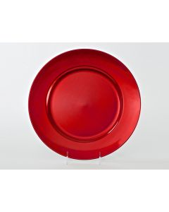 """Red Resin Service or Charger Plate 13"""""""