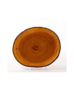 """Slice Wood Mahogany Service or Charger Plate Varied 11""""- 13"""""""