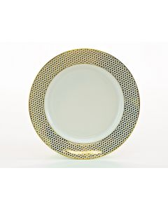 """Dottie Gold Coupe Dinner Plate 10.75"""""""