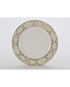 """Firenze Ivory with Gold Dinner Plate 10.75"""""""