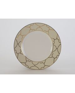 """Firenze Ivory with Gold Salad or Dessert Plate 8.5"""""""