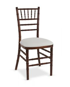 Fruitwood Chiavari Chair with White Stretch Knit