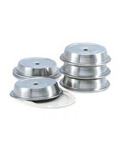 """Plate Cover 12"""" Round Stacking SS"""