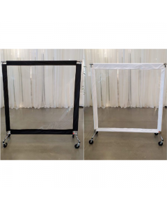 Floor Rolling Partition with Trim 5' wide x 5.5' high
