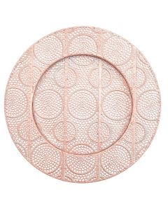 """Roma Copper Service or Charger Plate 13"""""""