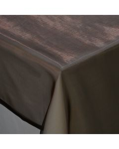 """Sheer Chocolate 80"""" x 80"""" Square Linen"""