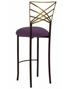 Two Tone Chameleon Bar Stool with Lilac Suede Cushion
