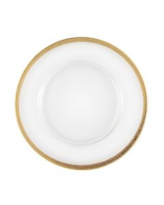 """Veneto Gold Band Service or Charger Plate 12.75"""""""