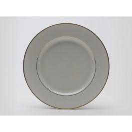"""Cream with Gold Dinner Plate 10.5"""""""