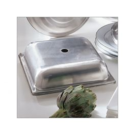 """Plate Cover 10"""" Square Stacking SS"""